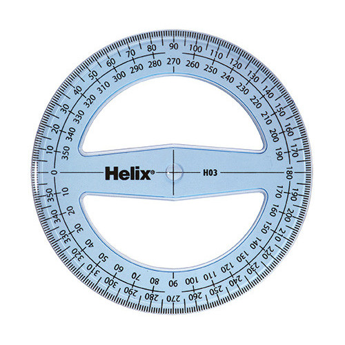 Helix-10cm/360 Deg Protractor Pk of 50