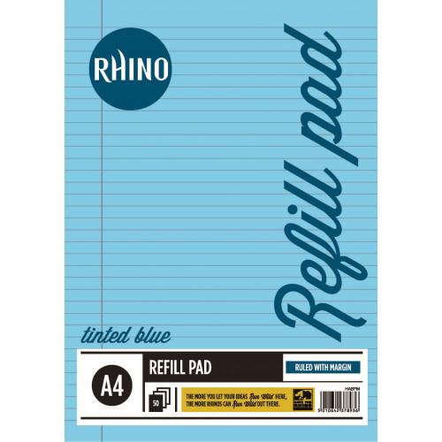 Rhino Refill Pad A4 50L F8M HB Blue Pk6