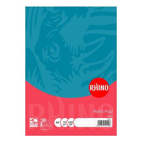 Rhino Refill Pad A4 80 Leaves 8mm Ruled Blue Cover