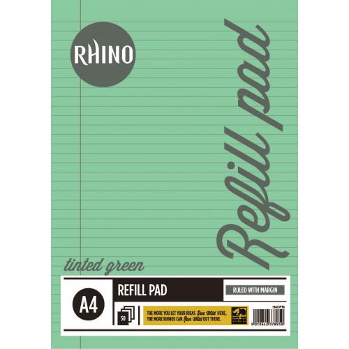 Rhino Refill Pad A4 50L F8M HB Green Pk6