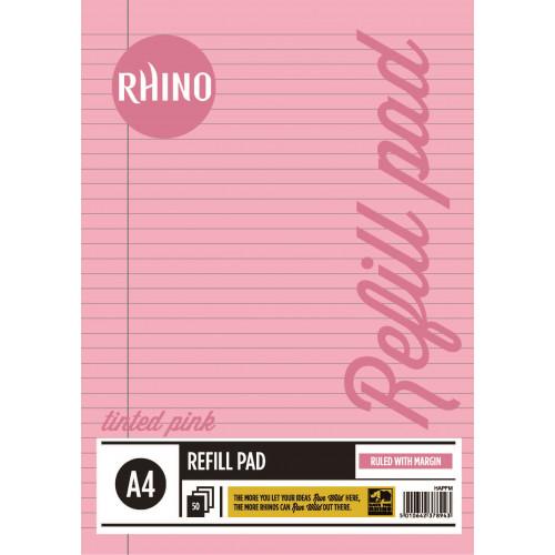 Rhino Refill Pad A4 50L F8M HB Pink Pk6
