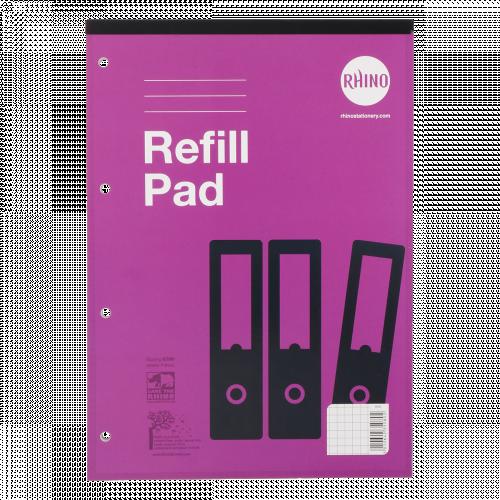 Rhino Refill Pad A4 80 Leaves 5mm Squares Purple Cover