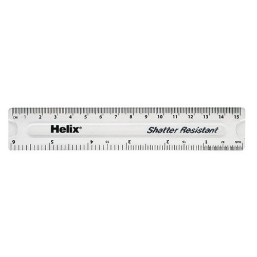 """Helix Clear Ruler 6""""/15cm Pack of 50"""