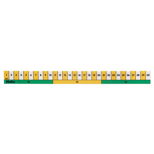 Helix Early Learning Ruler 1cm/10cmBlock