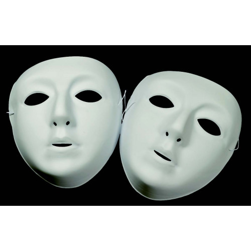 Plastic Face Masks-White Pk10
