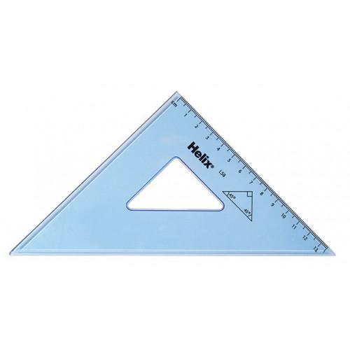 Helix Set Square 21cm 45 deg Pk 25