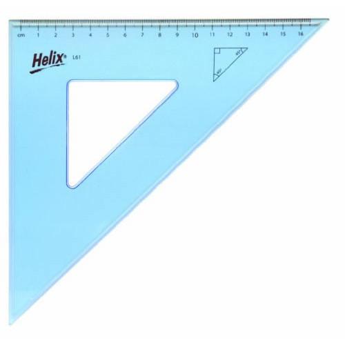 Helix Set Square 26cm 45 deg Pk25