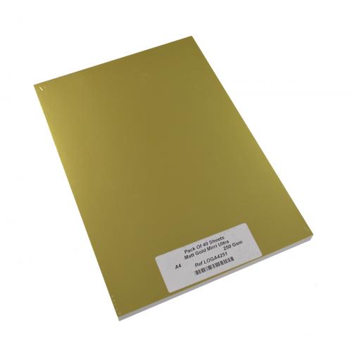 MATT GOLD MIRRI ULTRA A4 250g/m PK10
