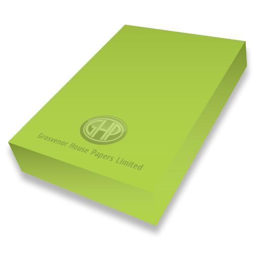 LIME GREEN CARD A4 300mic PK50