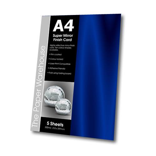 MIRRI H CARD BLUE A4 270gsm PK 5