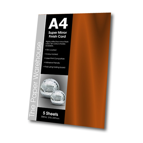MIRRI H CARD COPPER A4 270gsm PK 5