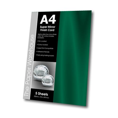 MIRRI H CARD GREEN A4 270gsm PK 5