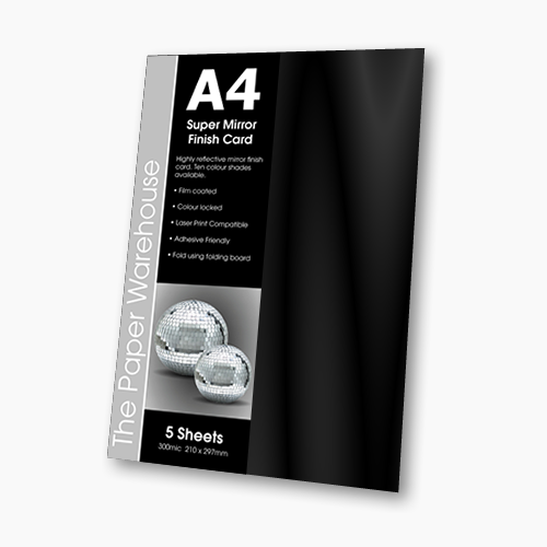 MIRRI H CARD GUNMETAL A4 270gsm PK 5