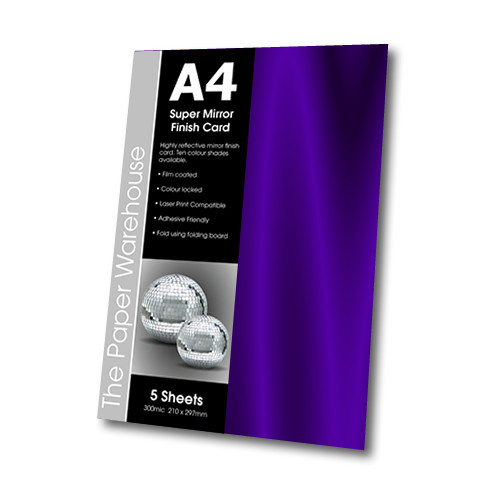 MIRRI H CARD PURPLE A4 270gsm PK 5
