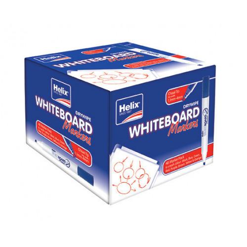 Helix W/board Chisel Marker Pk 48 Asstd