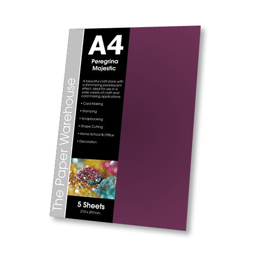 PARLOUR PURPLE MAJESTIC A4 290gsm PACK 5