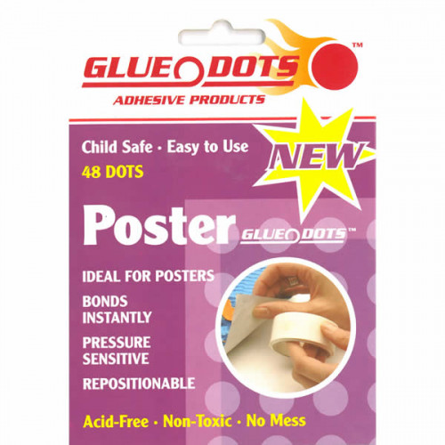 GLUE DOTS-POSTER DOTS 48 PURPLE WALLET