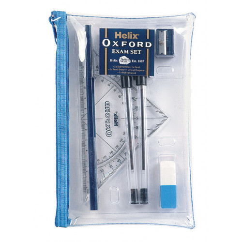 Oxford Exam Kit Clear Pencil Case Pk 6