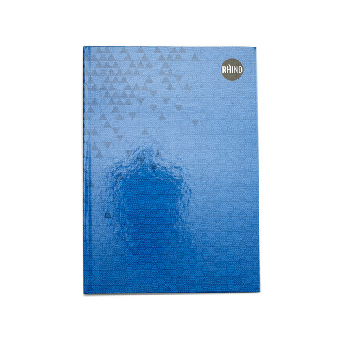 Rhino Casebound Books A4 192 Pages 8mm Ruled Dark Blue Cover