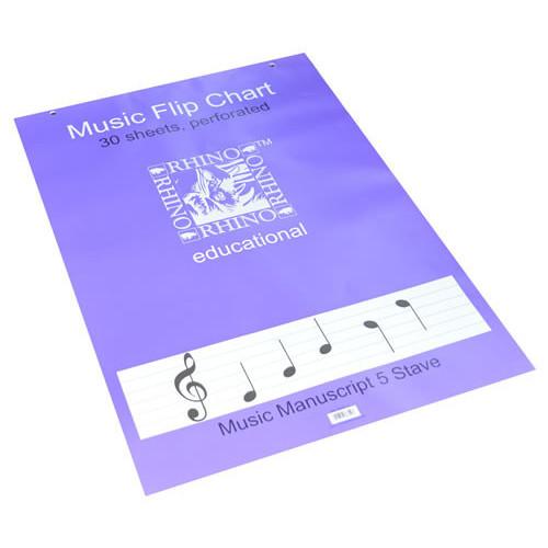 Rhino Music Flip Chart A1 30L Pk5