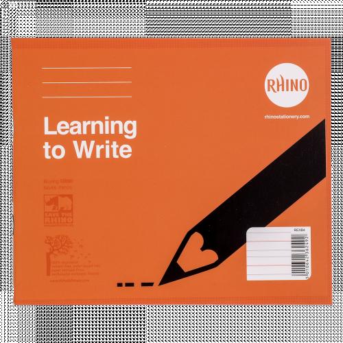 RHINO 6 x 8 Learn to Write Book 32 Page, Narrow-Ruled LTW4B:15R (Pack 25)