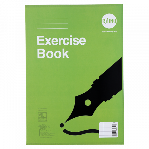 RHINO A4 Exercise Book 100 Page, F8M (Pack 6)