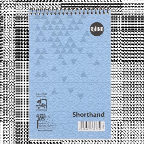 RHINO 200 x 127 Shorthand Notepad 80 Leaf, F8 (Pack 10)