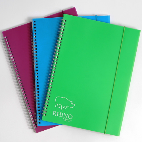 Rhino Notes A4 Notebook 200 Pages 8mm Ruled - Pack of 6