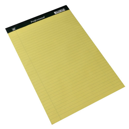 Legal Pad Perforated A4 F8m Yellow Pk10