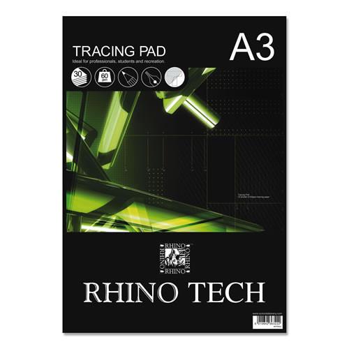 (D)Rhino Tracing Pad A3 30L Blank Pk3