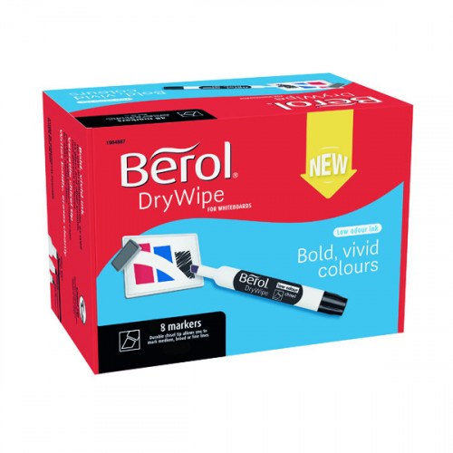 Berol Dry Wipe Marker Chisel - Pack of 12 - Red