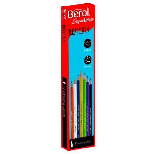 (D)Berol Verithin Pencil Pk12 - Sky Blue