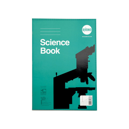 RHINO A4 Science Book 64 Page, F8M and 1:5:10 Graph Ruling (Pack 10)