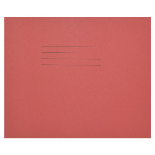 Learn to Write Books 32 Pages 6mm Blue Ruled centred on 20mm Red Ruled Red Cover