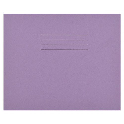 Learn to Write Books 32 Pages 4mm Blue Ruled centred on 15mm Red Ruled Purple Cover