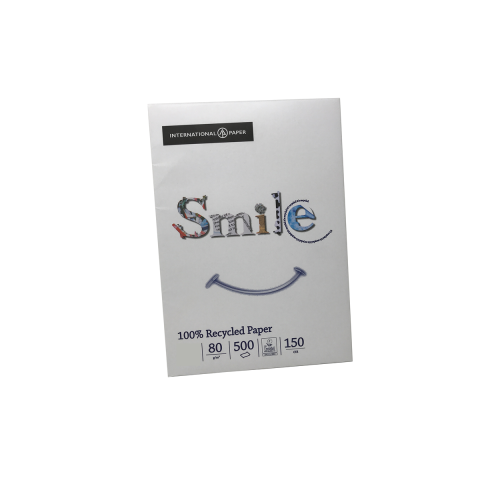 Smile White Recycled A4 80gsm Pk500