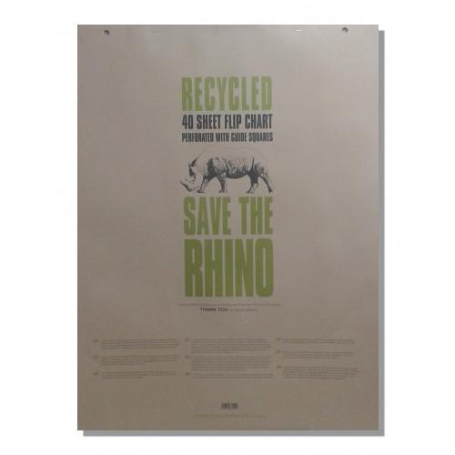 Rhino Recycled Flip Chart A1 40L Pk5