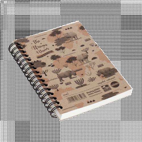 Rhino Spiral Notebook A6 100L F7 Pk6