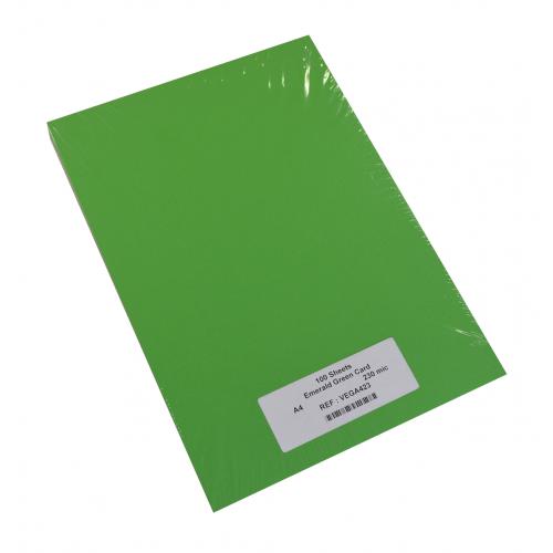 EMERALD GREEN CARD A4 230mic PK100