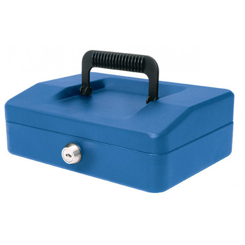 Helix Cash Box 8 Compartment 20cm Blue