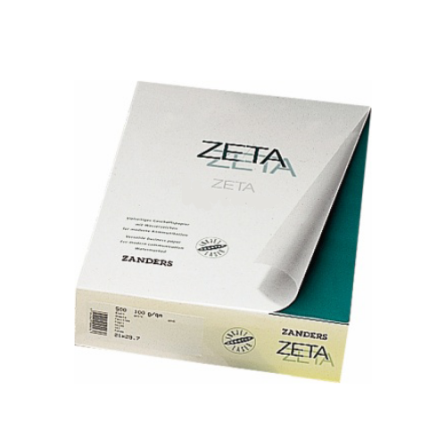 Zeta Matt Linen Textured White A4 Watermarked Paper 100gsm | 500 Sheets
