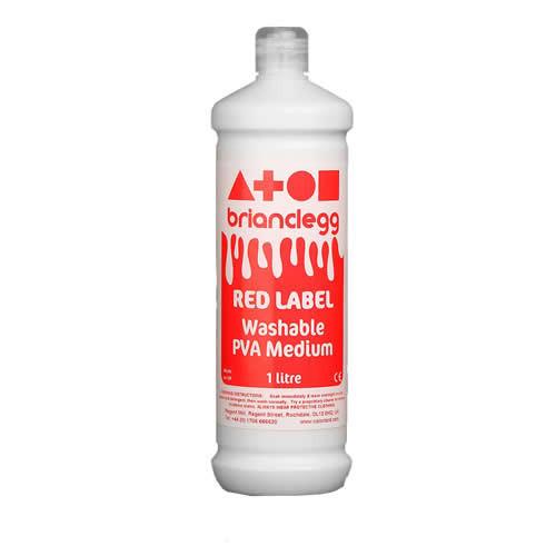 PVA Washable Glue Red Label Pk1 Litre
