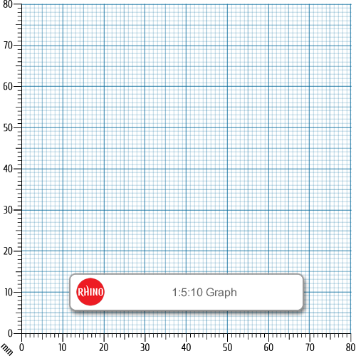Rhino Refill Pad A4 50L Graph G1 HB Pk6
