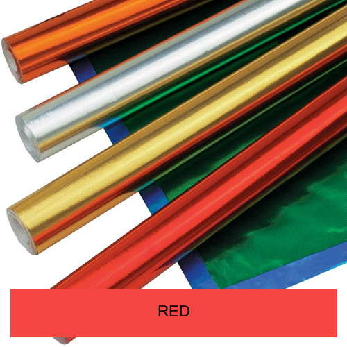 RED METALLIC ROLLS 500mmx10m