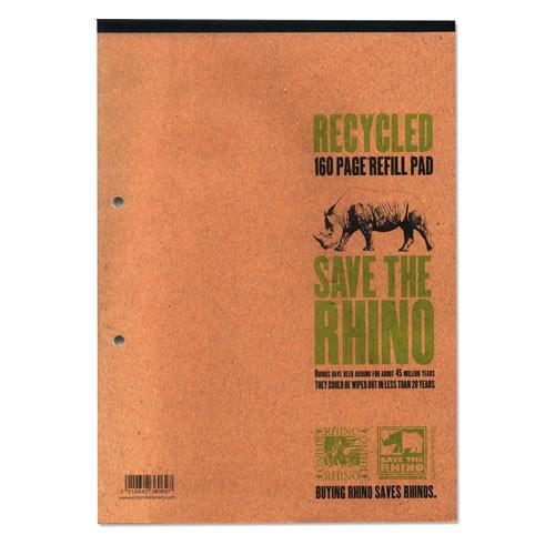 Rhino Recyled Refill Pad A4 80L F8M Pk5