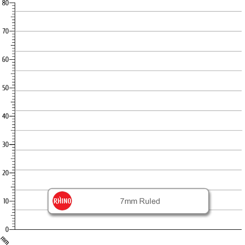 Rhino Spiral Notebook A6 200p F7 Pk6
